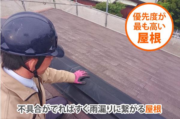 優先度が最も高い屋根