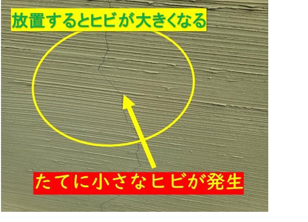 外壁点検にて劣化発見