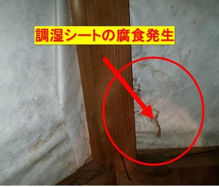 調湿シート雨漏り被害