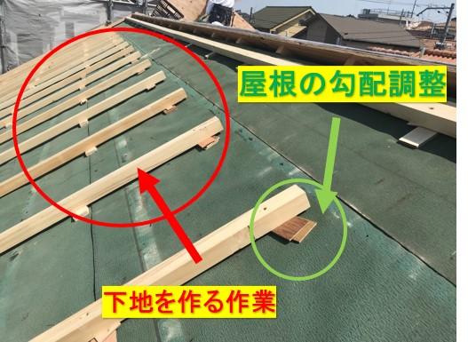 屋根葺き替え下地施工