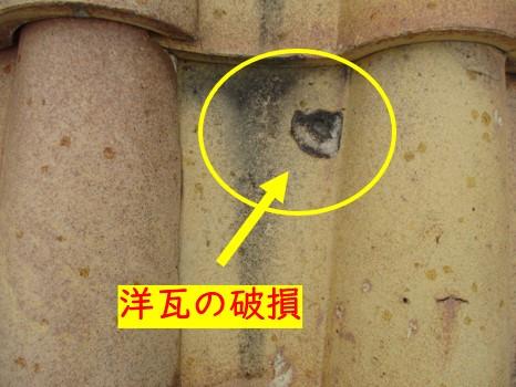 屋根の破損