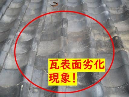 瓦屋根表面劣化