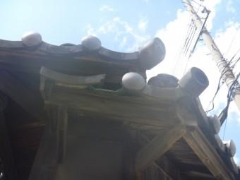 個人宅の装飾瓦