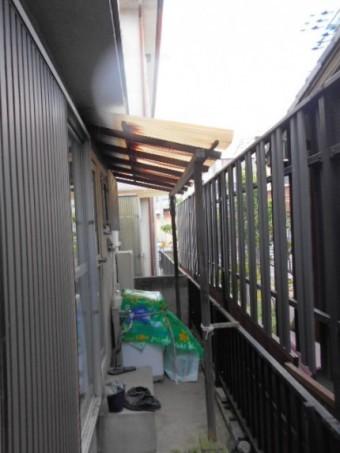 木製テラス屋根