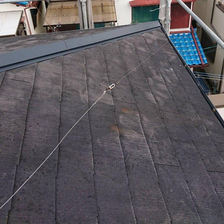 西宮市カラーベスト屋根棟板金の取付終了