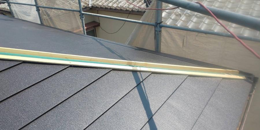 西宮市屋根葺き替え工事スーパーガルテクト