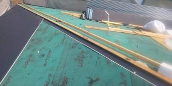 西宮市屋根葺き替え工事防水シート張り