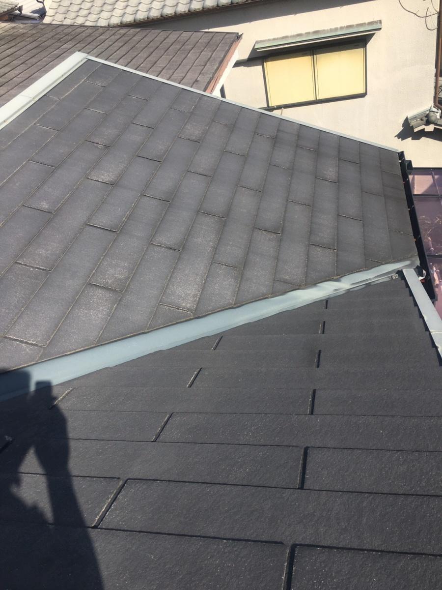 西宮市カラーベスト屋根修繕の点検