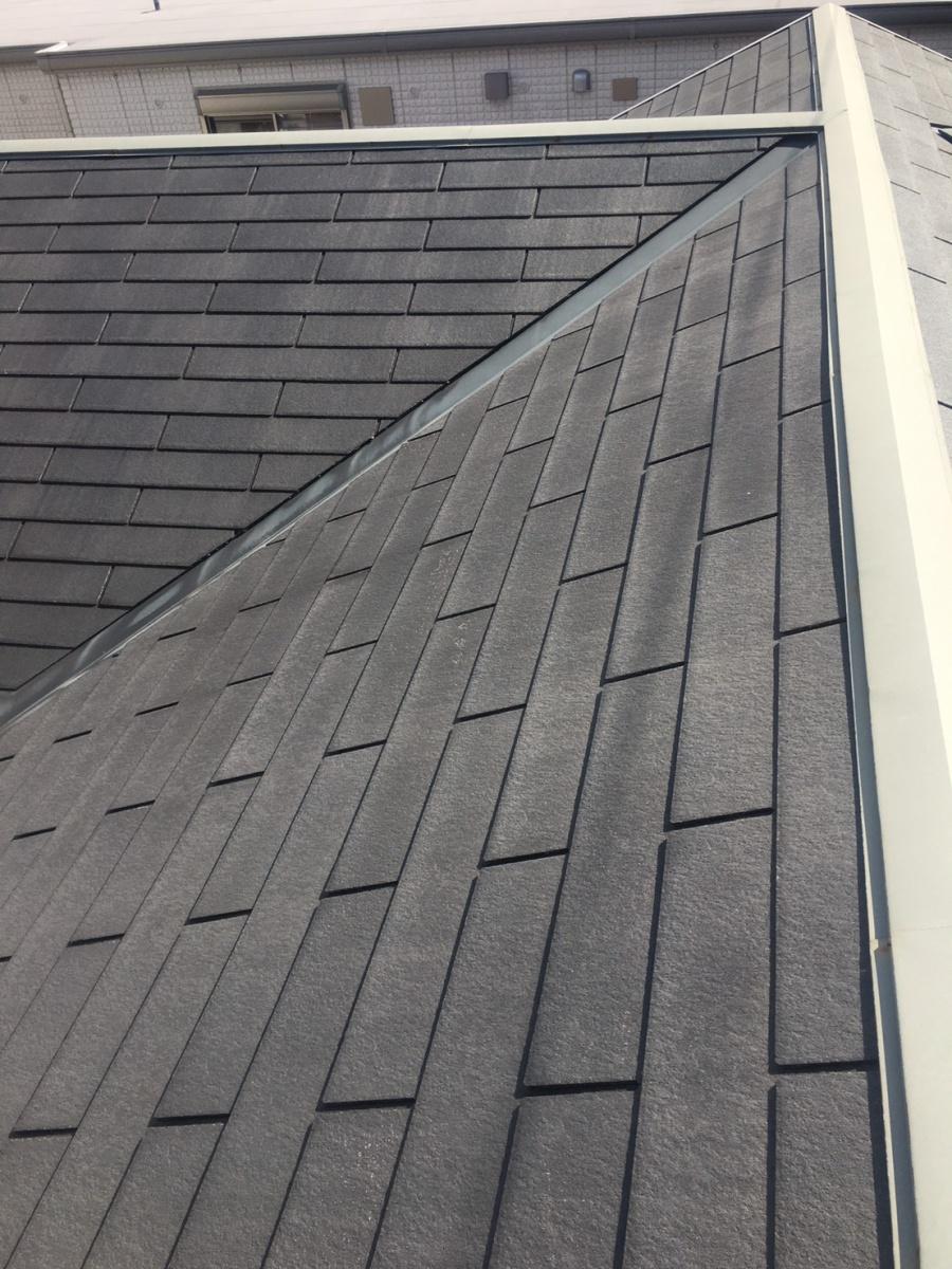 西宮市木造住宅カラーベスト屋根塗装前