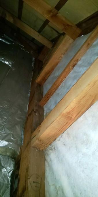 西宮市天井裏透湿シート