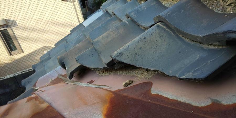 西宮市瓦屋根劣化腐食