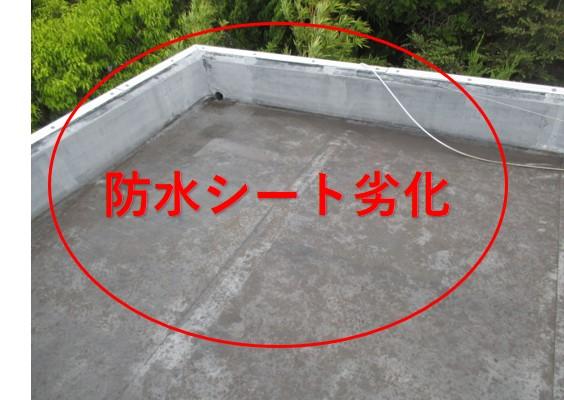 西宮市陸屋根シート防水