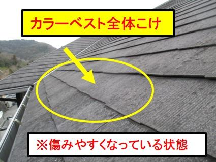 カラーベスト屋根傾斜