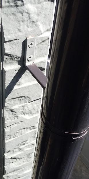 西宮市外壁窯業系サイディング材雨樋目地