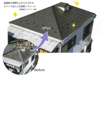 カバー工法による屋根リフォーム