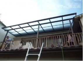 ベランダ屋根取替2階完了
