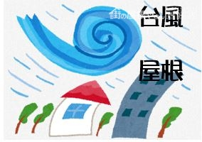 台風と屋根