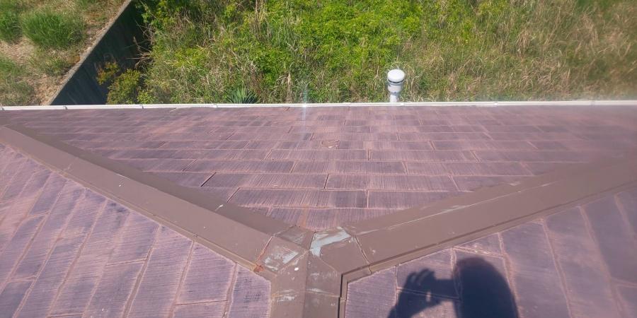 西宮市劣化がすすんでしまったカラーベスト屋根とドーマー窓
