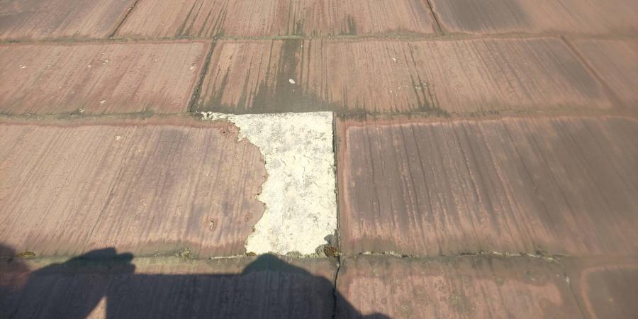 西宮市カラーベスト屋根メンテナンス不足による劣化