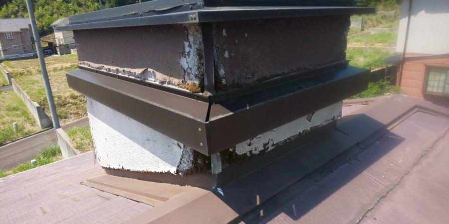 西宮市カラーベスト屋根の上のドーマー窓