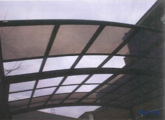 テラス屋根葺き替え