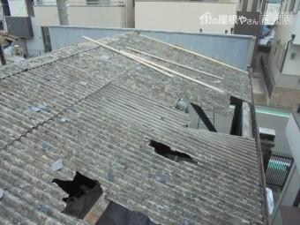 ガレージ屋根修理1
