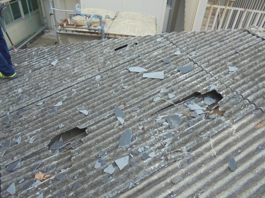 ガレージ屋根修理2