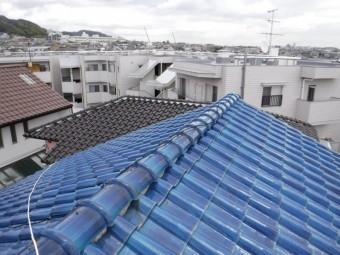 大屋根棟瓦施工前