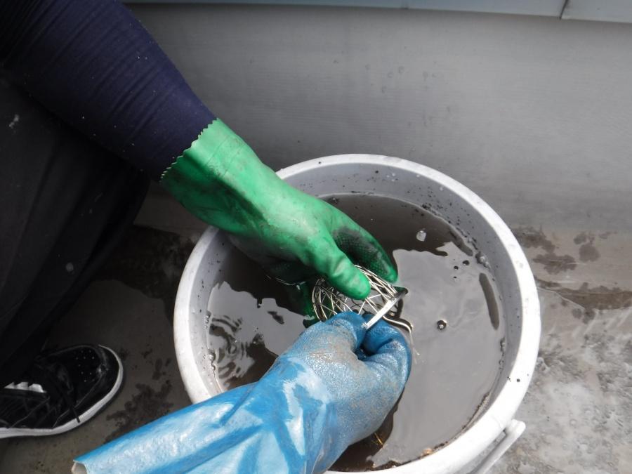 陸屋根排水溝清掃5