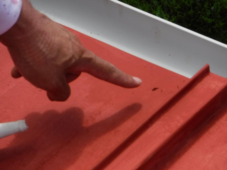 下屋根塗装4