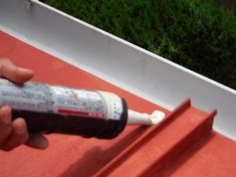 下屋根塗装5