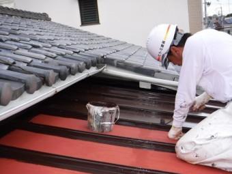 下屋根塗装6