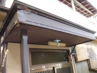 玄関庇修理現調1