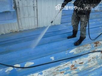 屋根塗装水洗い