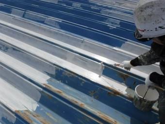 屋根塗装工事下地塗装2
