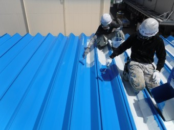 屋根塗装工事仕上げ