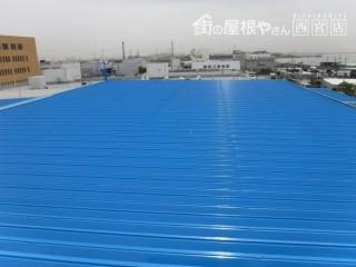 工場屋根塗装施工後1