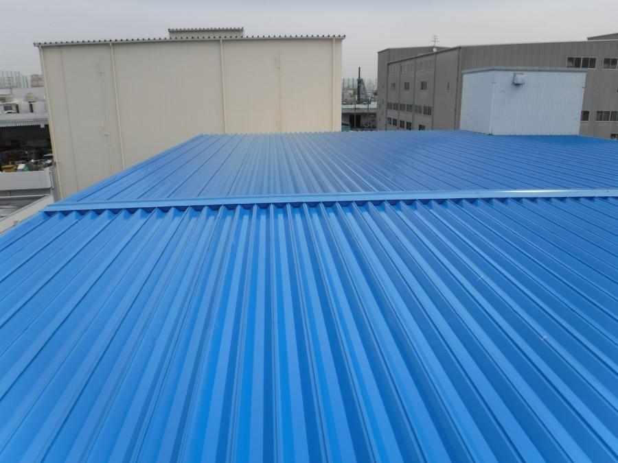 工場屋根塗装施工後2