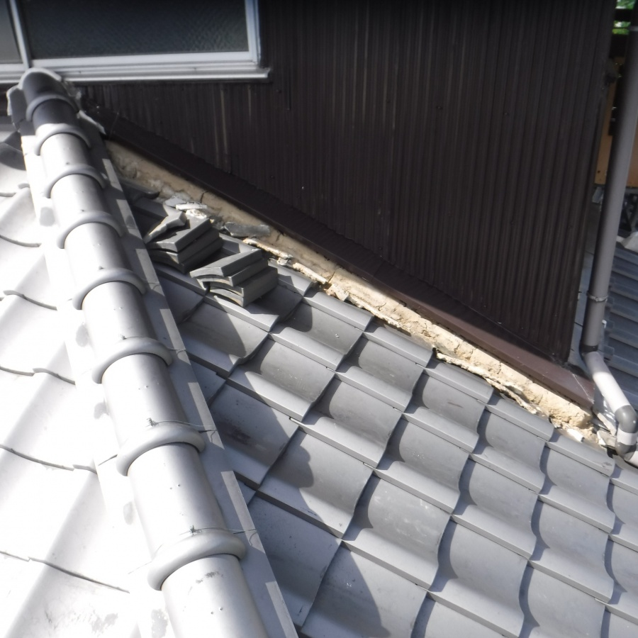 雨押え土居のし瓦修理4