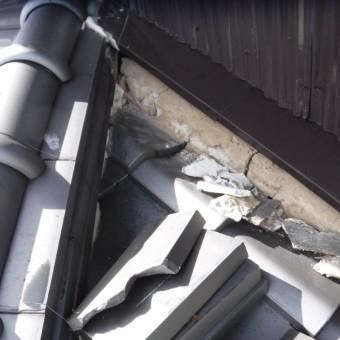 雨押え土居のし瓦修理5
