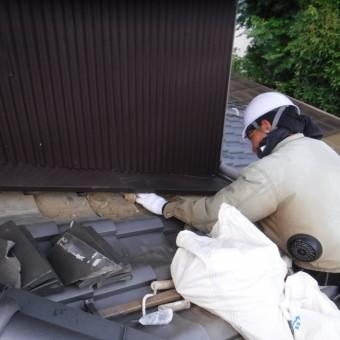 雨押え土居のし瓦修理3