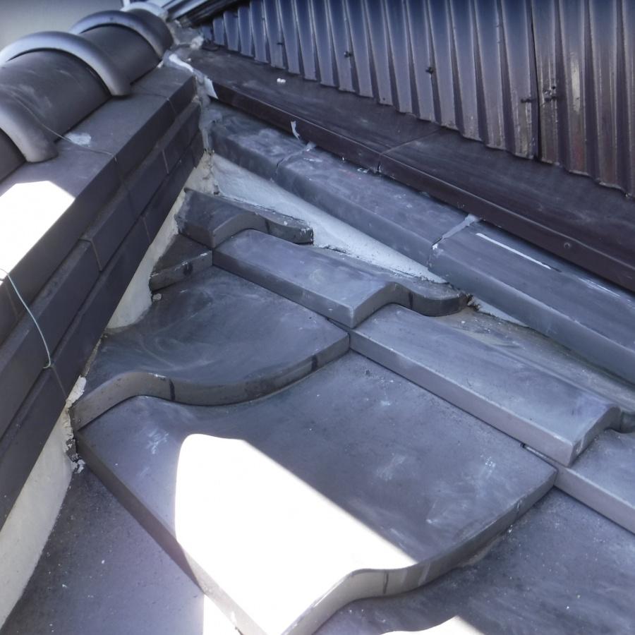 雨押え土居のし瓦修理10