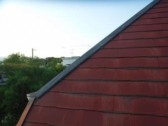 西宮市カラーベスト屋根棟板金外れて落ちた