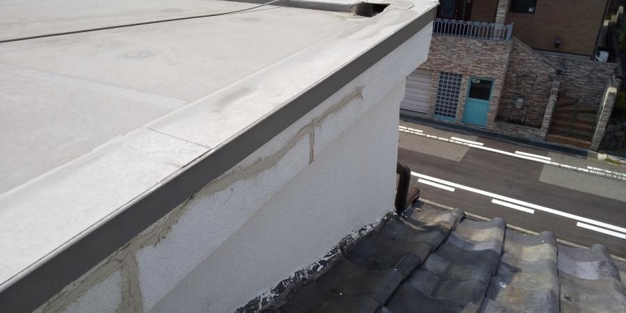西宮市築30年木造住宅陸屋根と外壁の被害