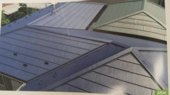 西宮市尼崎市カラーベスト屋根にガルバリウム鋼板上張り