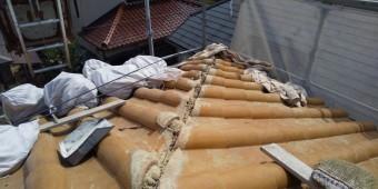 西宮市木造二階建て住宅モニエル瓦修繕工事