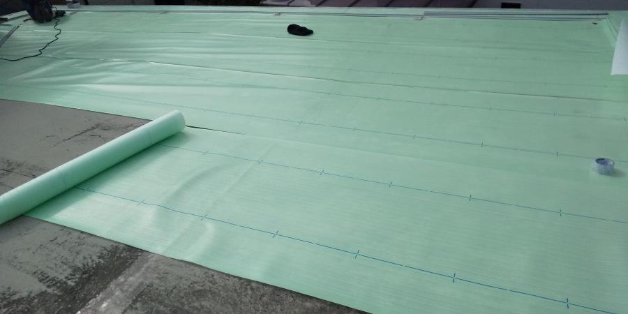 西宮市陸屋根塩ビシート工事