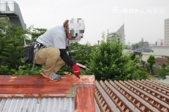 工場屋根雨漏り修理7
