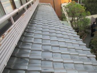 西宮市木造二階建て住宅瓦屋根点検