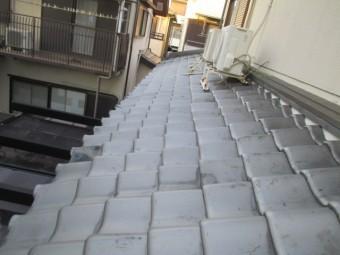 西宮市木造住宅瓦屋根劣化で危ない